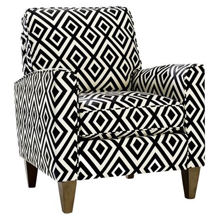 Add an eye-catching touch to your living room or master suite with this midcentury-inspired arm chair.: