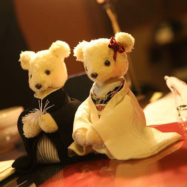 今日は『良い夫婦の日』 思い出のウェルカムベア  #良い夫婦の日 #ウェルカムベア #着物 #テディベア #teddybear #東亜和裁 #toawasai