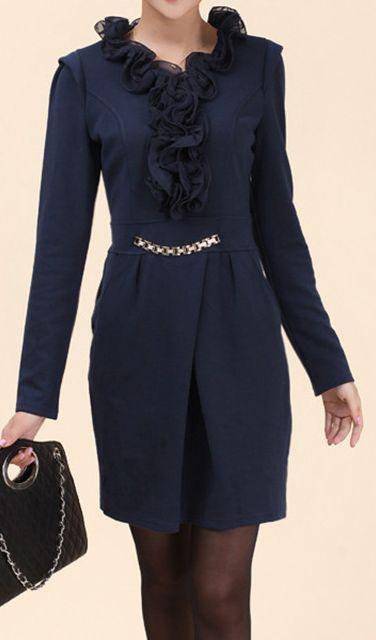 Vintage style, flounced V-neck   Dress.   dresslily.com