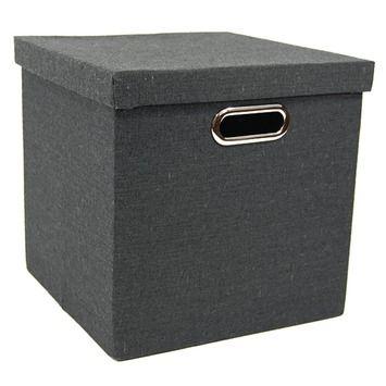 Opberger Stora 30x30x30 cm zwart in de beste prijs-/kwaliteitsverhouding, volop keuze bij GAMMA 8,99