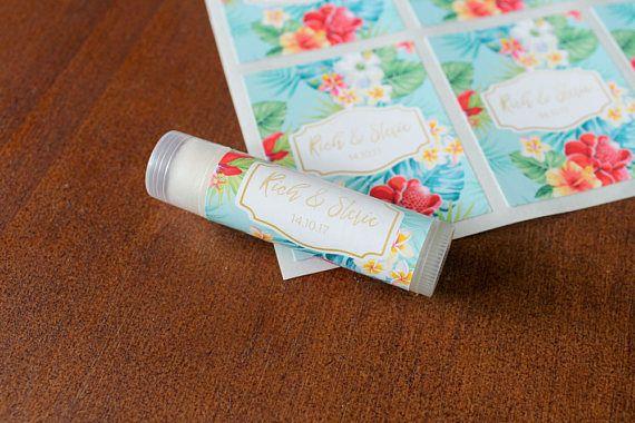 Tropical Custom Lip Balm / Chapstick Wedding or Party Favour