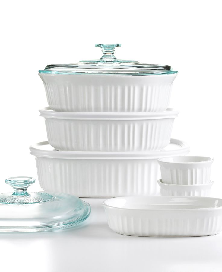 Corningware French White 10 Piece Bakeware Set #macysdreamregistry