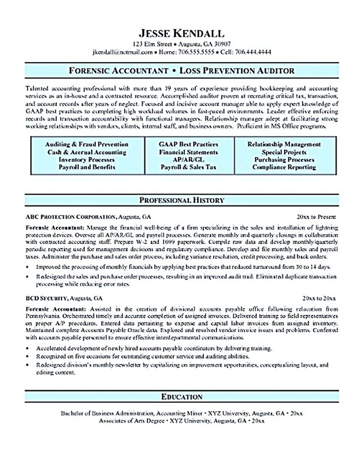 accounting resume ought to be perfect in any way  if you