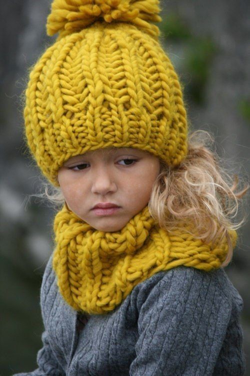 our favorite accessories | knit hat and scarf in our favorite fall color, mustard yellow paired with a simple grey outfit so the accessories pop
