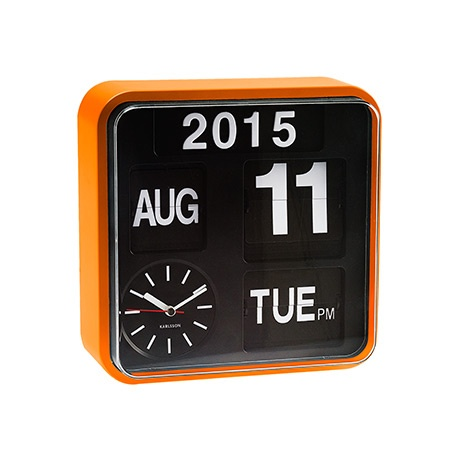 KARLSSON Wall Clock Flip Orange