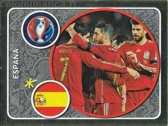 UEFA EURO 2016™ Official Sticker Album: Fronte Figurina n. 345 España Team