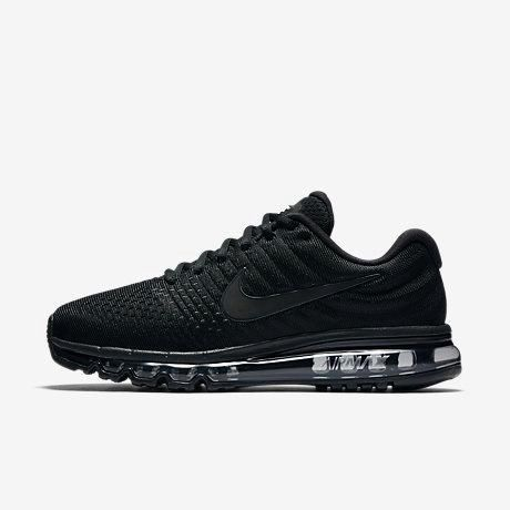 Discount Nike Air Max 2017 Triple Black Sports Running Shoes Free Shipping - $70.88