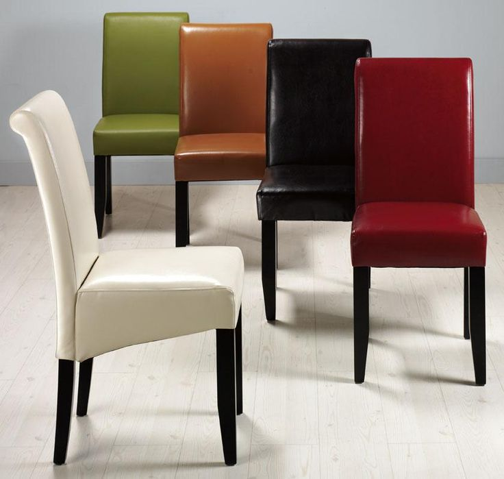 Parsons Rolled Back Leather Chair