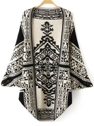 Fashionable Totem Pattern Reversible Cardigan For WomenSweaters & Cardigans | RoseGal.com