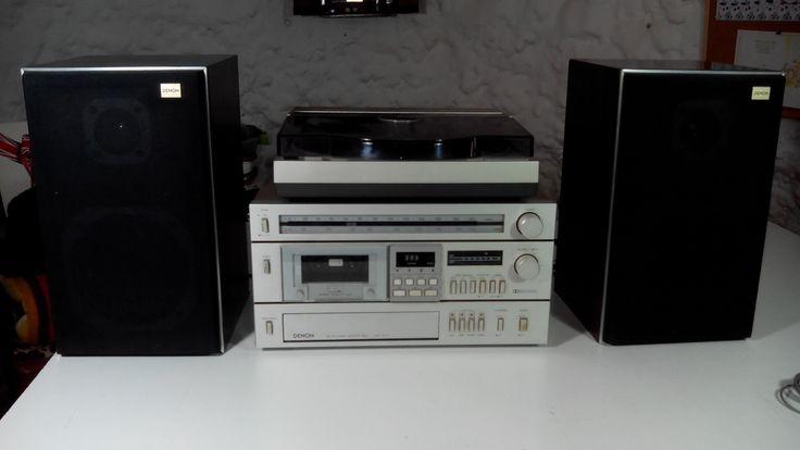 Denon SK-5 and Technics SL-7 turntable.