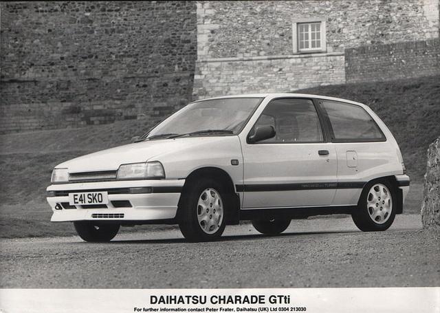 1987/88 Daihatsu Charade GTti press pic by Spottedlaurel, via Flickr