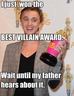 Haha, poor bitter Mr. Malfoy :P