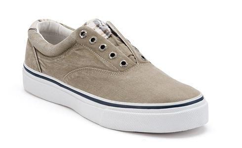 Sperry Striper Laceless CVO Slip-On Sneaker Men's Chino/khaki Plaid