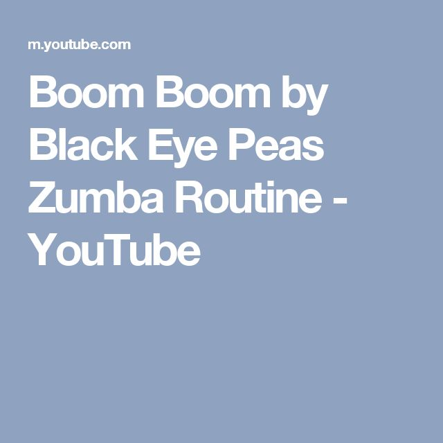 Boom Boom by Black Eye Peas Zumba Routine - YouTube