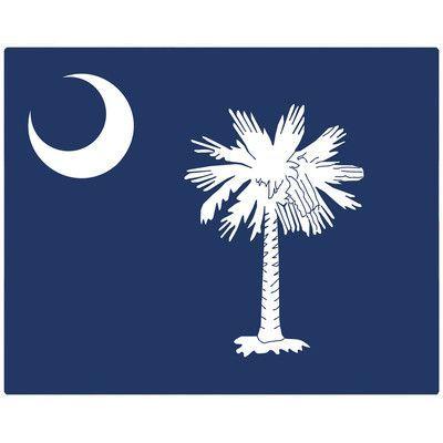 "Magic Slice South Carolina Flag 12""x15"" Non-Slip Flexible Cutting Board"