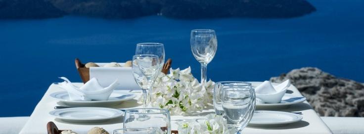 Enjoy your meals at the Caldera Restaurant.    http://www.volcano-view.com/santorini-caldera-restaurant.php