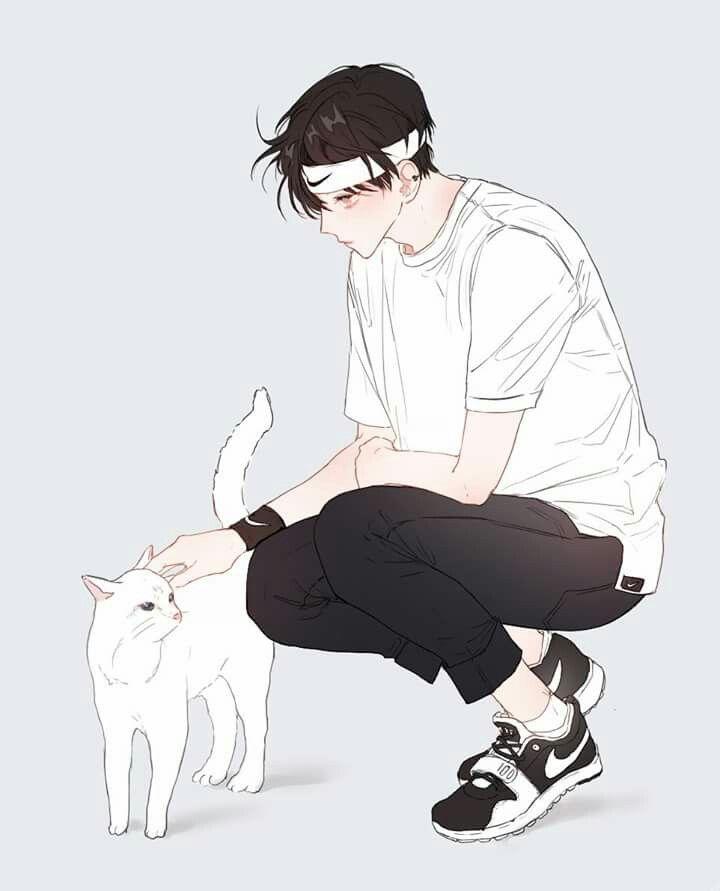Sweet white kitty cat <3
