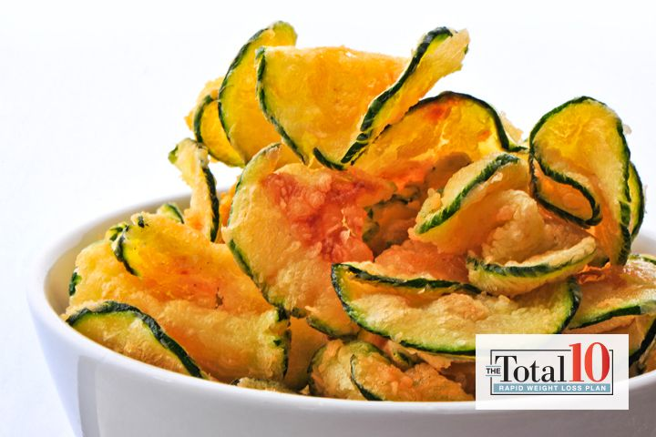Total 10 Squash Chips: This snack from the Total 10 Rapid Weight-Loss Plan is so delicious you'll want to eat it year-round.