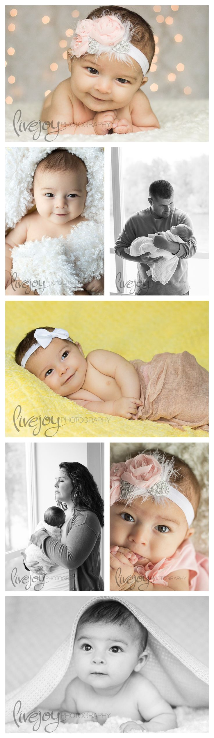 3 Month Old Baby Girl Photography #livejoyPhotography #photography #newborn