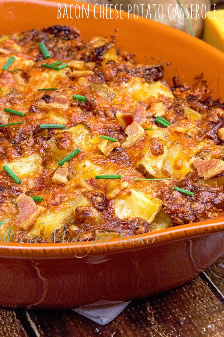 Bacon and cheese lovers rejoice–here's a potato casserole you're sure to love!