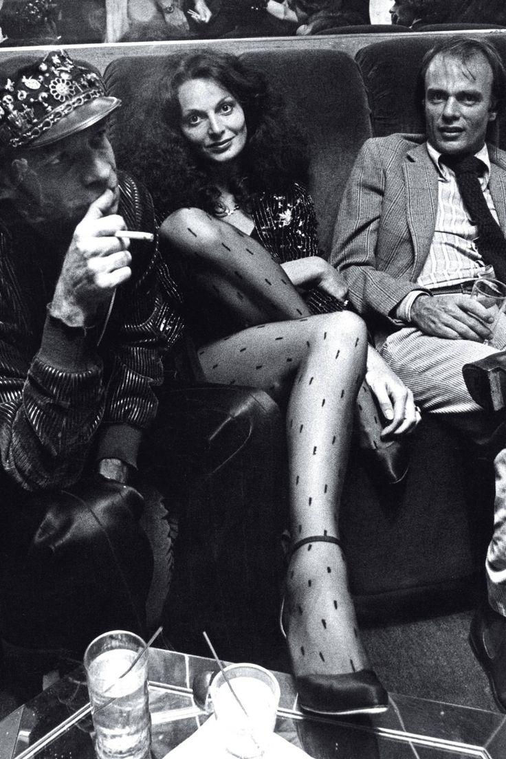 Diane von Furstenberg Through the Years. I totally have these tights, no biggie.