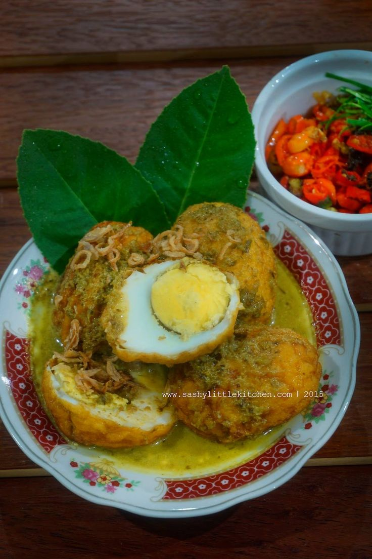 Telur Bumbu Bali  Egg with Balinese Seasoning (yellow spices)