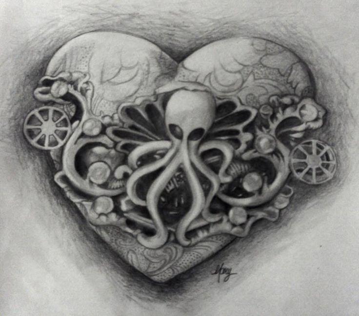 octopus heart by MaryXII