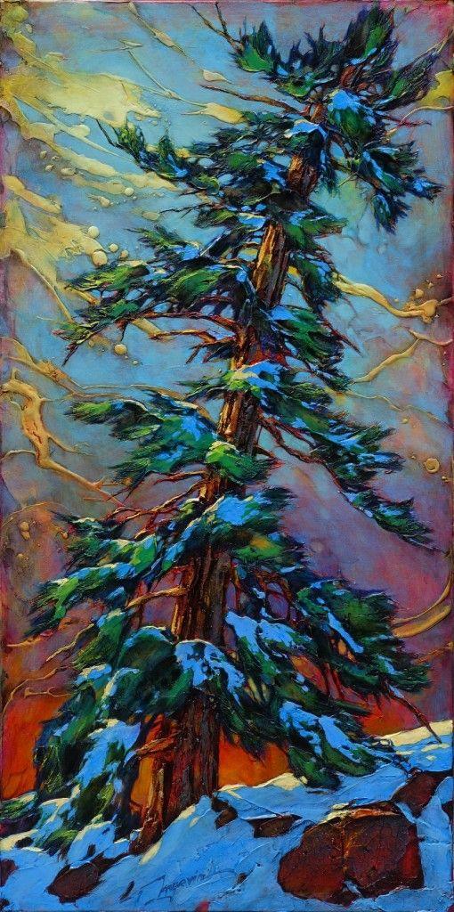 strange weather 60x30 acrylic on canvas