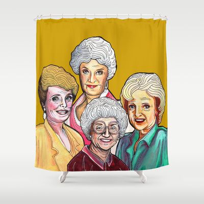 Golden Girls Shower Curtain By Minervatorresguzman