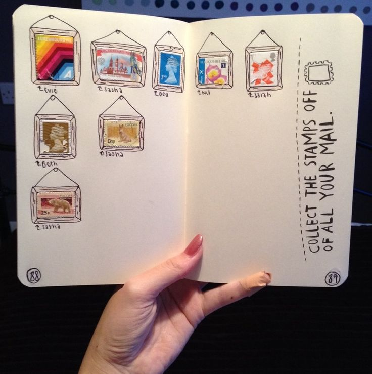 Stamp collection in journal
