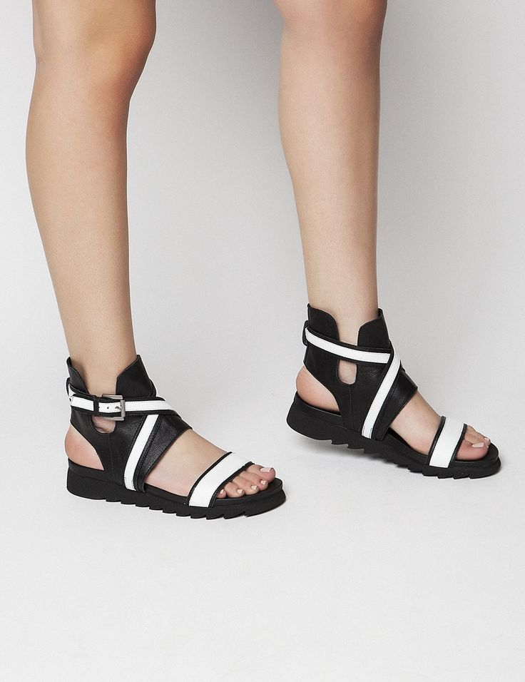 Priya White Sandals S/S 2015 #Fred #keepfred #shoes #collection #leather #fashion #style #new #women #trends #black #sandals #white