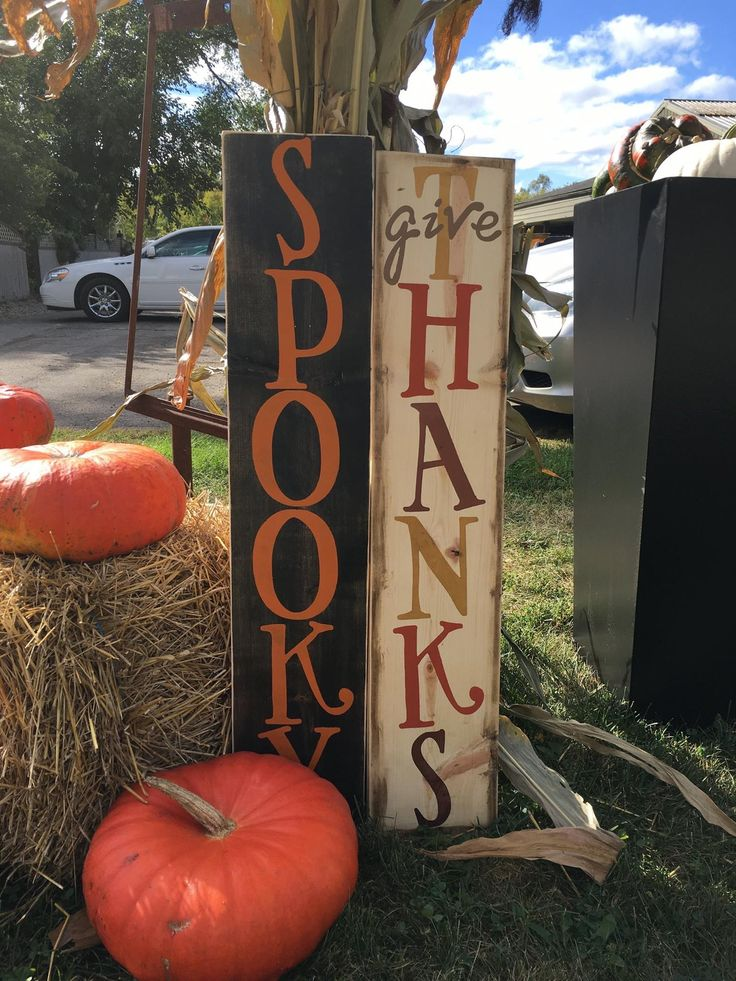 Halloween/Thanksgiving sign