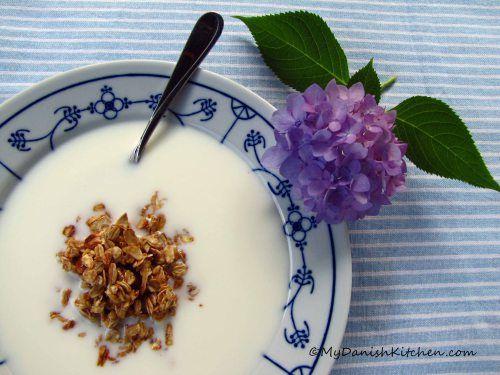 Koldskål (a mixture of buttermilk, non-fat yogurt & sugar)