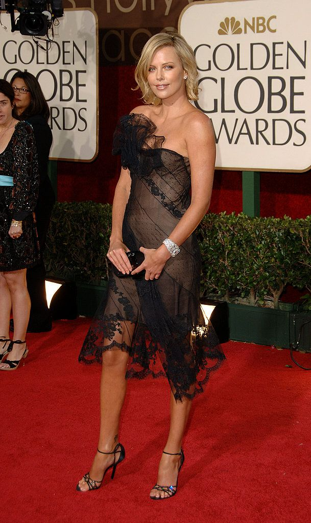 Lighting up the red carpet in Dior at the 2006 Golden Globes. - www.fabsugar.com