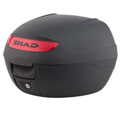 """Shad SH-26 motorcycle top case in black. Designed to attach to most flat luggage racks. Its dimensions are: 15.9"""" L x 15.7"""" W x 11.1"""" H and has a 26 liter capacity. Your price is $74.95."""