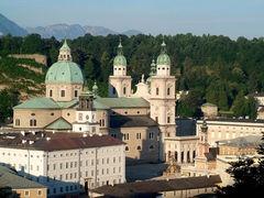 The Salzburg Cathedral.  Salzburg, Austria