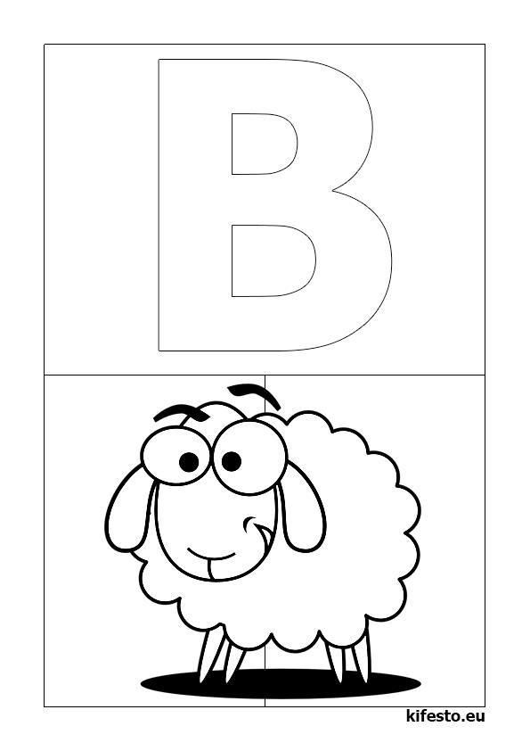 ABC kifestők és ABC színezők. ABC nyomtatható kifestők. ABC.