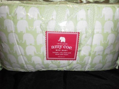 New Amy Coe Mod Baby Peanut Elephant Crib Bedding Set