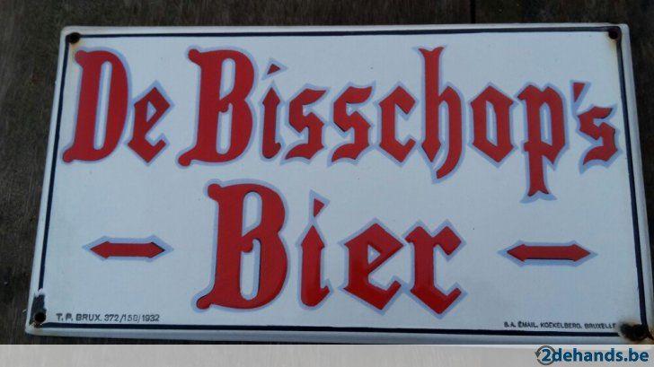 bisschop's bier.....Zeer goede staat....1932.... 45 op 25