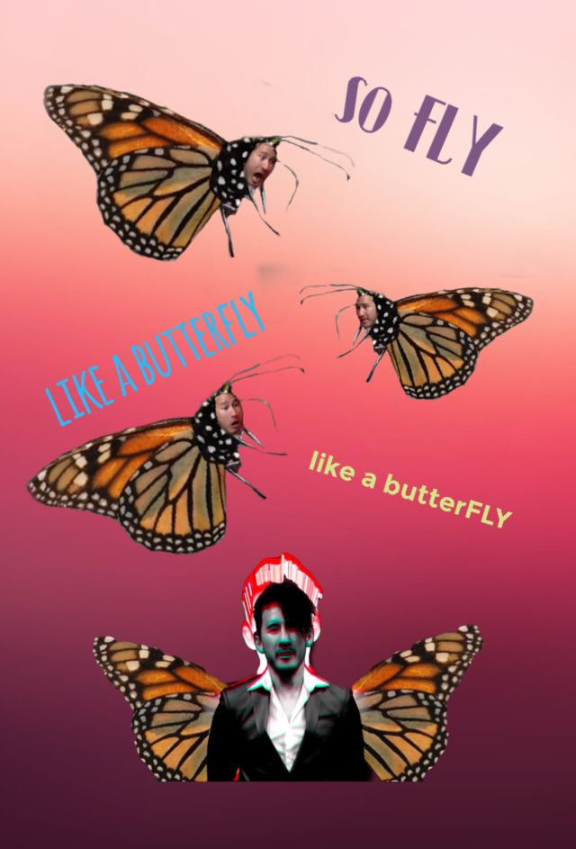 """AvaDaWolf: """"Markiplier 'Like A Butterfly' Wallpaper for phones ( Made With Bazaart )"""