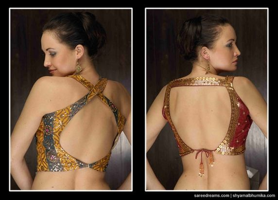 Saree blouse designs from Shyamal & Bhumika    saree blouse design saree blouse