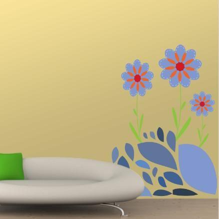 Θέμα Με Λουλούδια,   αυτοκόλλητο τοίχου ,20,10 €,https://www.stickit.gr/index.php?id_product=487&controller=product