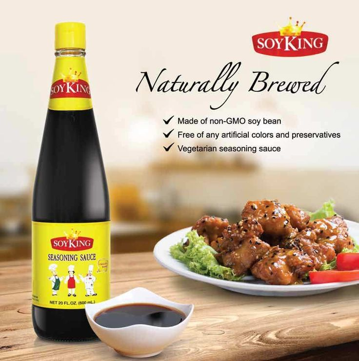Soy King Naturally Brewed Soy Seasoning Sauce with a twist of distilled vinegar