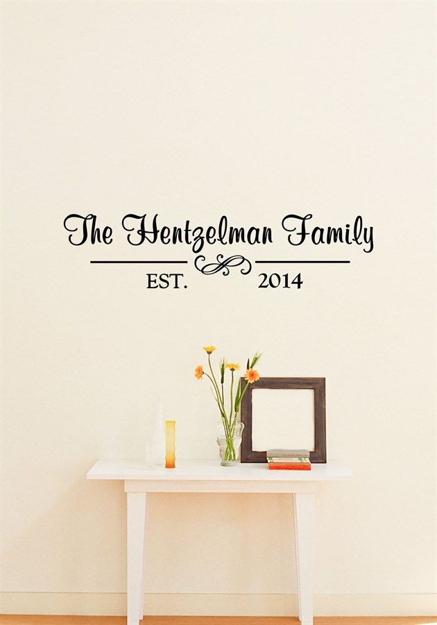 Custom Family Last Name Year Established Vinyl Decal Home Etsy Decal Wall Art Vinyl Lettering Vinyl Wall Art Decals
