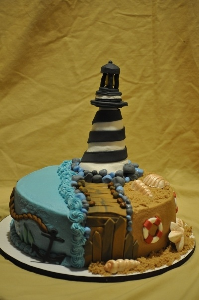 152 Best Cakes Lighthouses Images On Pinterest