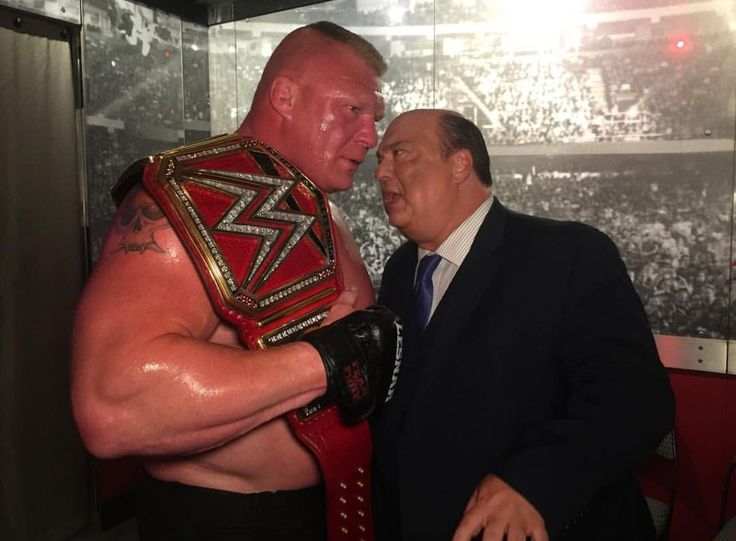 Universal Champion Brock Lesnar with Paul Heyman