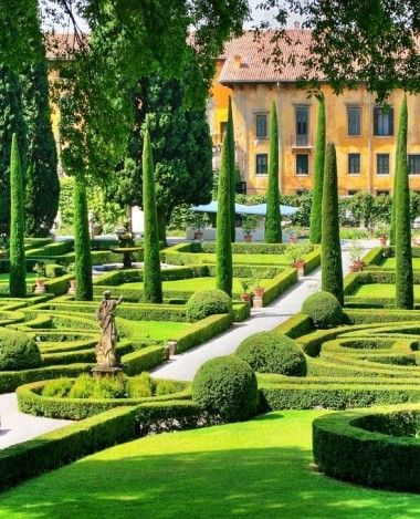 Giardino Giusti-Verona, Italy, il giardino all'italiana Verona Veneto