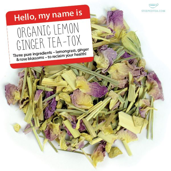 Hello! My name is Lemon Ginger Tea-Tox. I'm organic and ready to help you become a healthier you. Try me today!