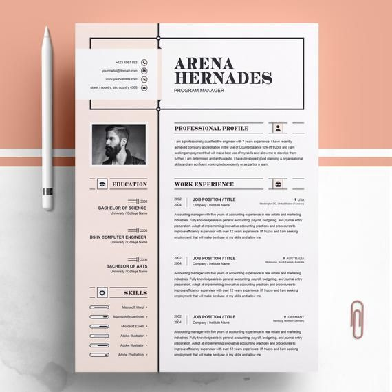 Modern And Creative Professional Resume Cv Design Ms Word Template Printable Click Image For More Leben Vorlagen Lebenslauf Lebenslauf Lebenslauf Design