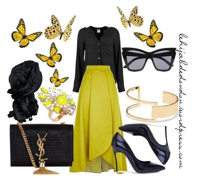 """""""Yellow Hijab Outfit"""" by le-hijab-de-doudou ❤ liked on Polyvore"""